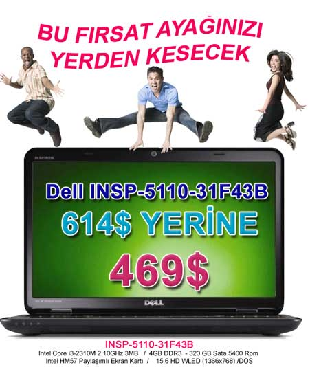 DELL  INSP-5110-31F43B  INSPIRON 999 TL