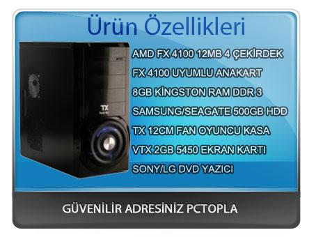 Oyun Bilgisayarı AMD FX4100  888 TL