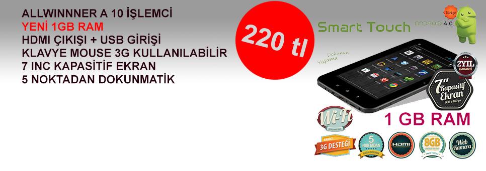 1GB'lık Yeni Model Ezcool 7inc Tablet Pc'de Kampanya